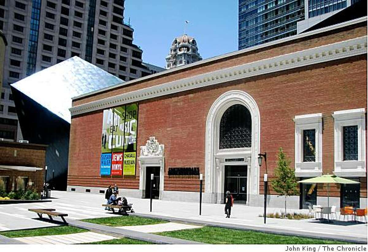 The Contemporary Jewish Museum, a building in San Francisco that shows the old and new can blend.