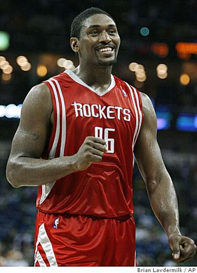 FILE - In this March 16, 2009, file photo, Houston Rockets forward Ron Artest smiles after a play during an NBA basketball game against the New Orleans Hornets  in New Orleans. Artest is heading to the Los Angeles Lakers, according to various media reports Thursday, July 2, 2009. (AP Photo/Brian Lawdermilk, File) Photo: Brian Lawdermilk, AP