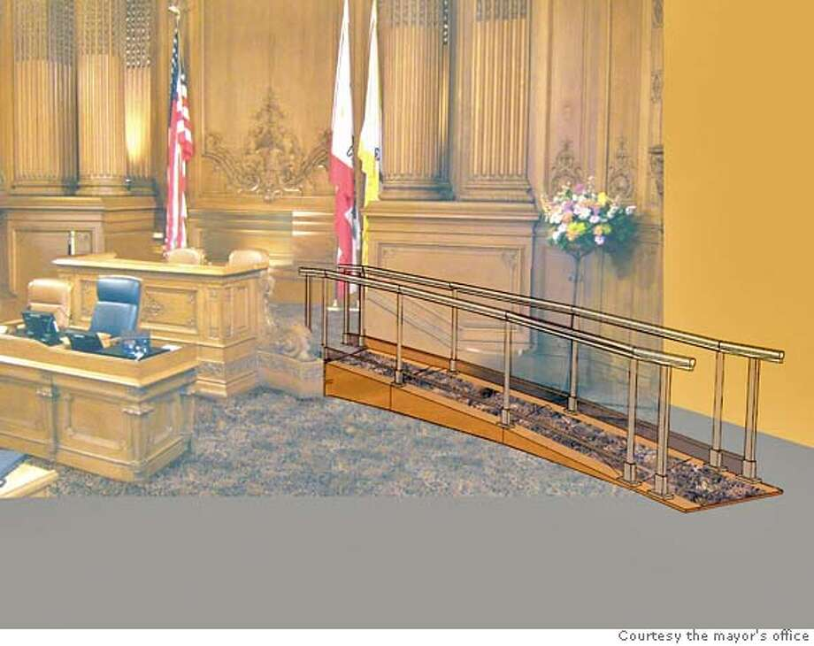 The Board of Supervisors is weighing a $1 million wheelchair ramp to make the board podium accessible.