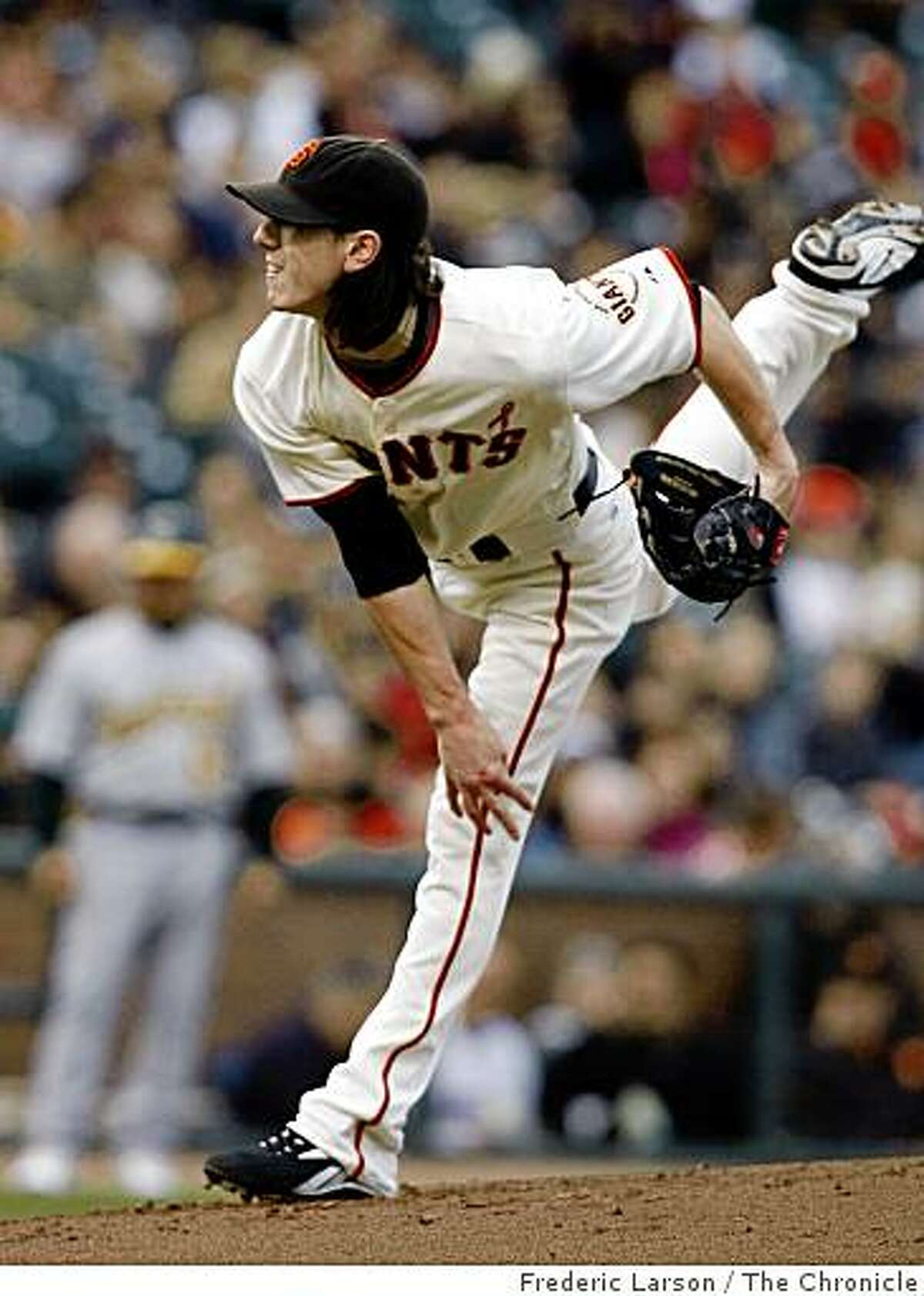 Tim Lincecum pitched a complete game shut out against the Oakland Athletics at AT&T Park in San Francisco, Calif., on June 12, 2009.