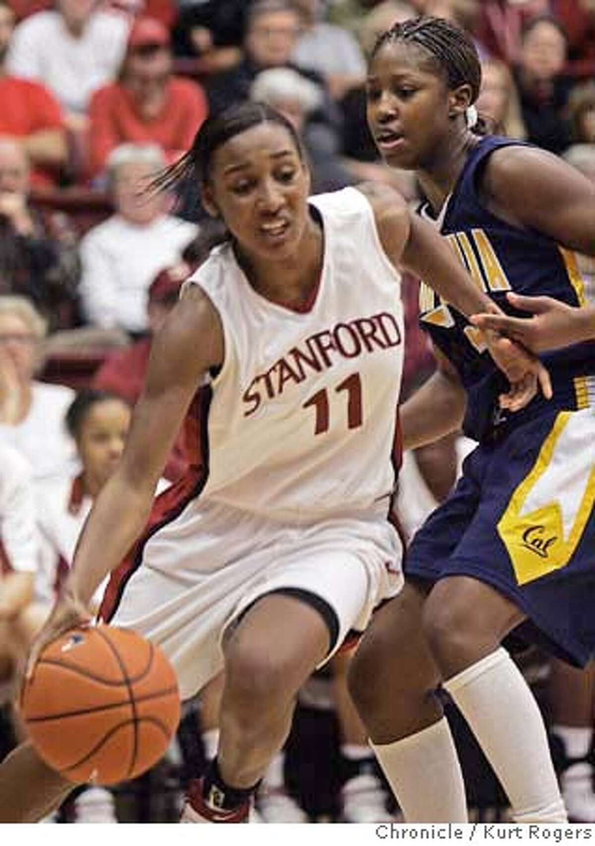 Candice Wiggins drives past cal's Jene Morris during the first half of play. Cal vs Stanford Women at Maples Pavillion. Kurt Rogers PALO ALTO SFC The Chronicle CALSTANFORDWOMEN_00547_kr.JPG Ran on: 01-15-2006 Brooke Smith, who had 22 points for Stanford, is double-teamed by Krista Foster (15) and Jene{minute} Morris. Ran on: 01-15-2006 Brooke Smith, who had 22 points for Stanford, is double-teamed by Krista Foster (15) and Jene{minute} Morris. Ran on: 01-15-2006 Brooke Smith, who had 22 points for Stanford, is double-teamed by Krista Foster (15) and Jene{minute} Morris. MANDATORY CREDIT FOR PHOTOG AND SF CHRONICLE/NO SALES-MAGS OUT