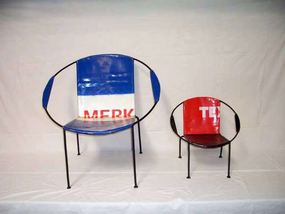 Oil drum chairs made in Togo and imported by Iman DEco Photo: Handout