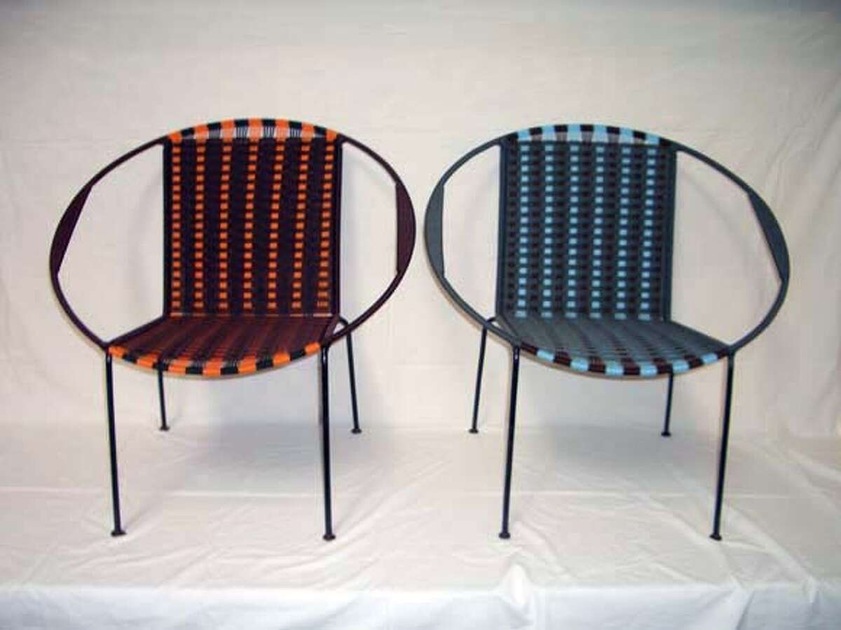 Nylon polypropylene chairs made in Togo and imported by Iman DEco