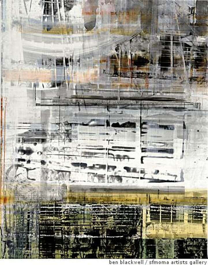 """""""Glitch XIII"""" (2008) oil on canvas by Canan Tolon Photo: Ben Blackwell, Sfmoma Artists Gallery"""