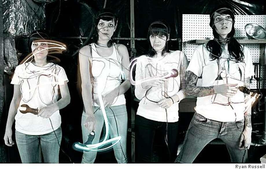 Atlanta, Georgia band the Coathangers, featuring (left to right) Meredith Franco, Julia Kugel, Candice Jones and Stephanie Luke. Photo: Ryan Russell