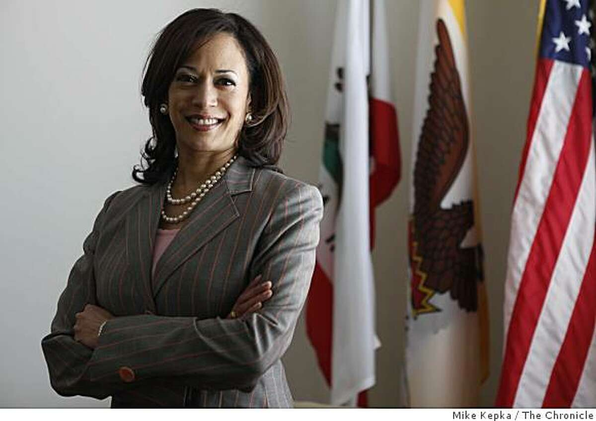 Kamala Harris, District Attorney for San Francisco, stands for a portrait in her Hall of Justice office on Tuesday April 28, 2009 in San Francisco, Calif.