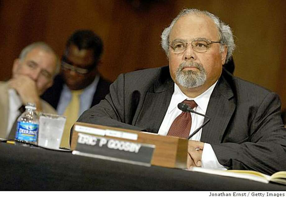 WASHINGTON - JUNE 09:  Dr. Eric Goosby, CEO and Chief Medical Officer of Pangaea Global AIDS Foundation, takes a seat for his confirmation hearing before the Senate Foreign Relations Committee to be President Obama's Director of the Office of the Global AIDS Coordinator, on Capitol Hill on June 9, 2009 in Washington, DC. Goosby has been involved in the fight against HIV/AIDS for over 25 years, beginning with his treatment of petients at San Francisco General Hospital when AIDS first emerged.  (Photo by Jonathan Ernst/Getty Images) Photo: Jonathan Ernst, Getty Images