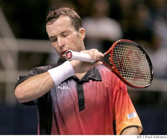 Radek Stepanek, of the Czech Republic, reacts after losing a point to Andy Roddick in finals of the SAP Open tennis tournament in San Jose, Calif., Sunday Feb. 24, 2008. Roddick won the match 6-4, 7-5. (AP Photo/Paul Sakuma) Photo: Paul Sakuma
