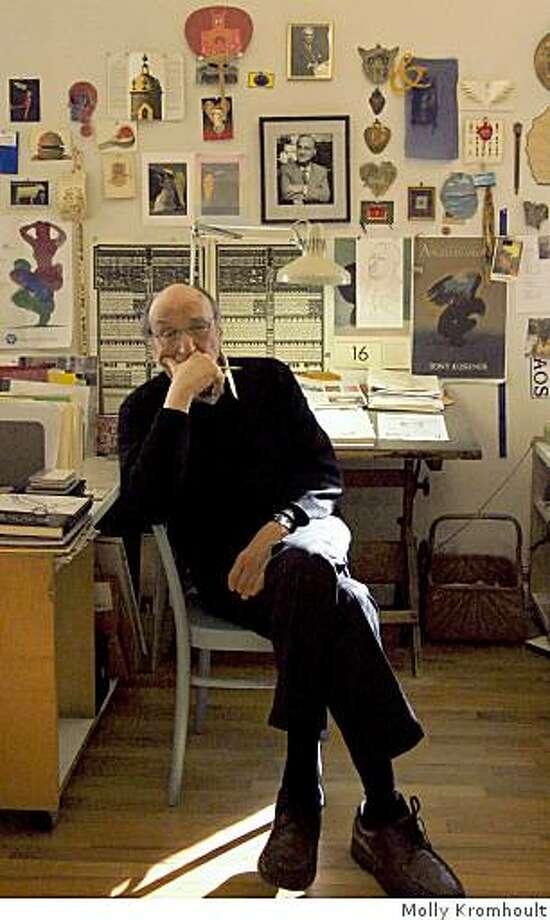 Portrait of Milton Glaser. Photo: Molly Kromhoult