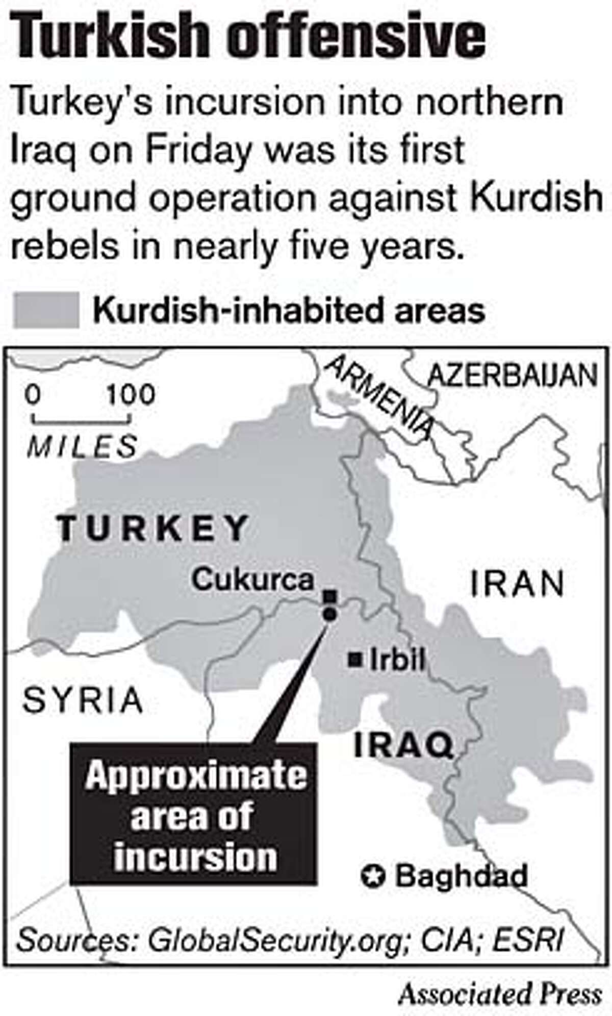Turkish offensive. Associated Press Graphic