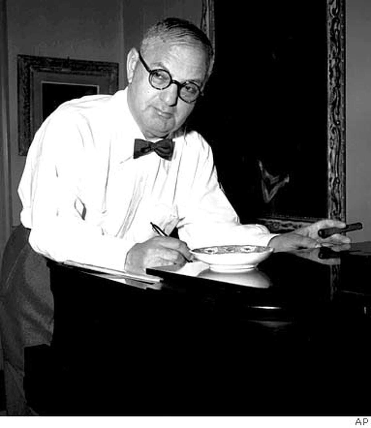 Ira Gershwin, shown at his Beverly Hills, Ca. home in this never-published 1954 photo released by the Gershwin family Wednesday, Nov. 27, 1996, would have turned 100 on December 6, 1996. A special concert,