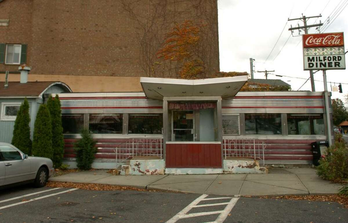 The long closed Milford Diner on New Haven Avenue in downtown Milford.