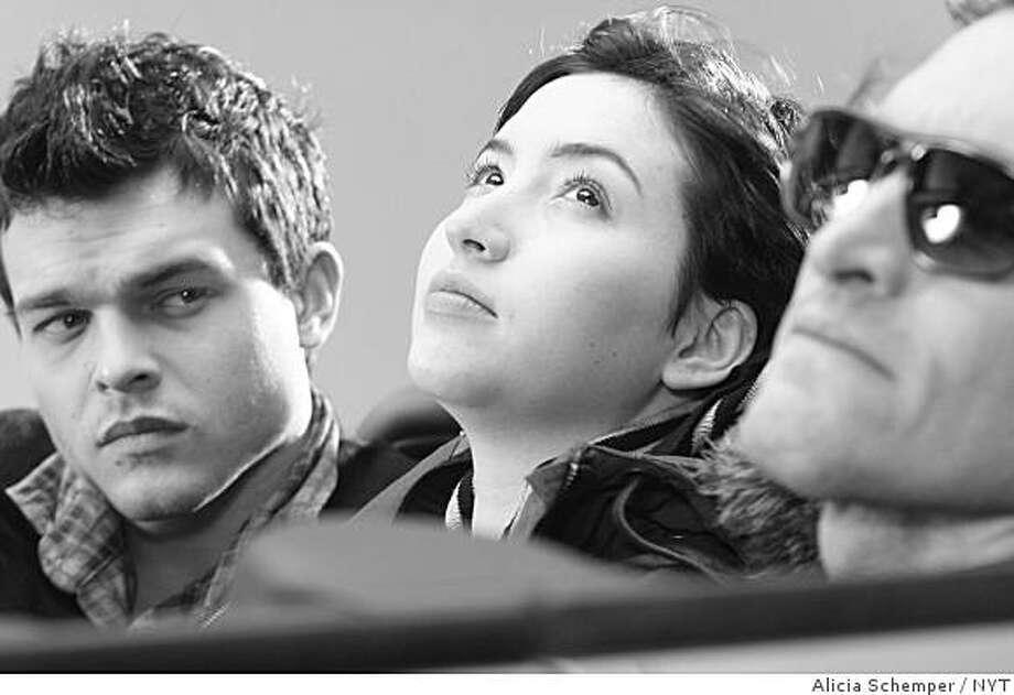 """Alden Ehrenreich, Sofia Castiglione and Vincent Gallo in """"Tetro,"""" the new film from Francis Ford Coppola in an undated photo. Photo: Alicia Schemper, NYT"""