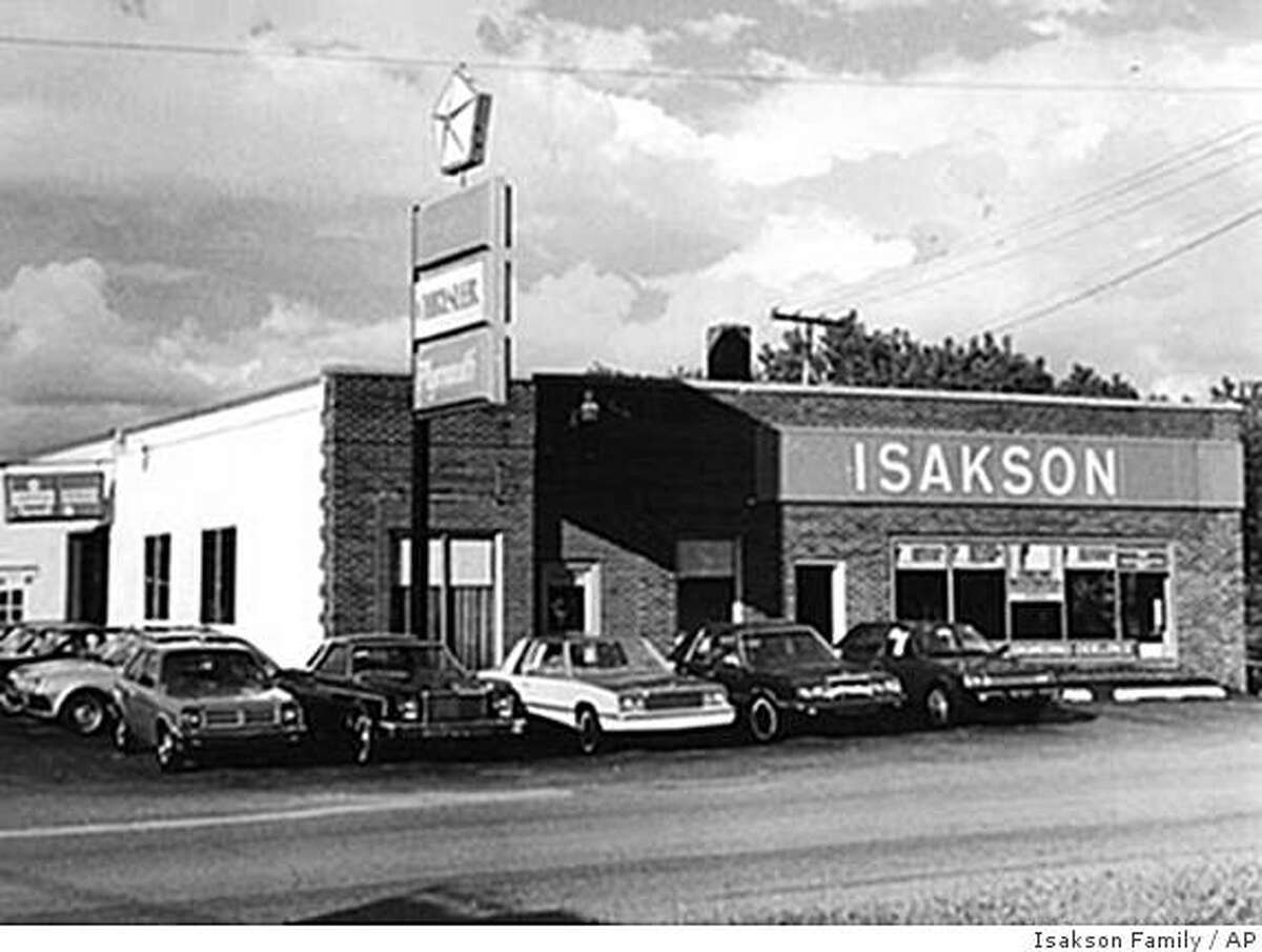 **ADVANCE FOR SUNDAY, JUNE 14** An undated photo provided by the Isakson family shows the front of the old Isakson Chrysler dealership located at Front & Center Streets in Hobart, Ind., that was in operation from 1928-1999. Isakson Motor Sales is still operating in Hobart, but it is among nearly 800 dealerships whose franchises Chrysler terminated as part of its restructuring under bankruptcy. (AP Photo/Isakson Family) **NO SALES**
