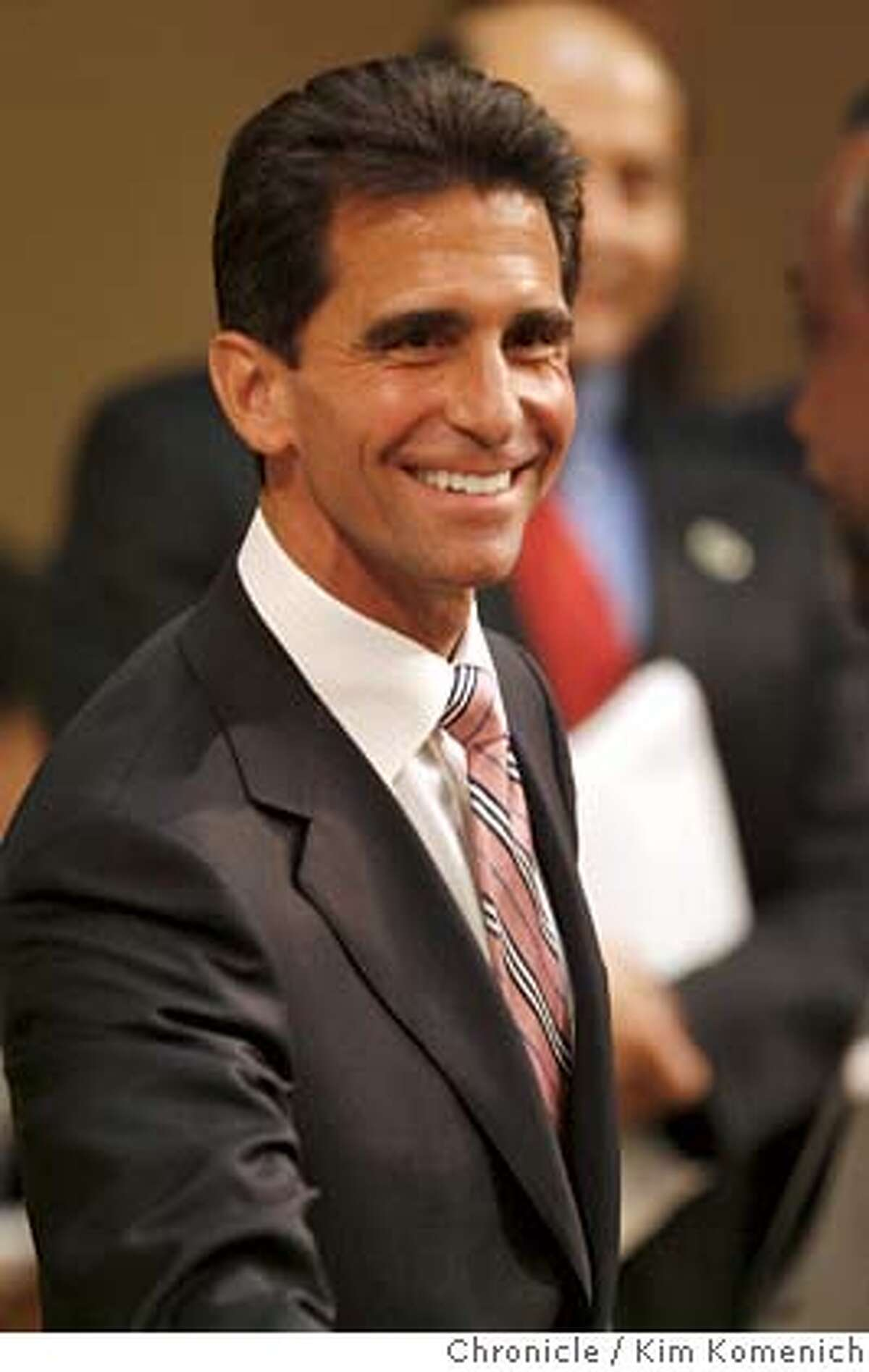SCHWARZENEGGER10_110_KK.JPG California State Assemblyman Mark Leno on the Asssembly floor before California Gov. Arnold Schwarzenegger gives the 2007 State of the State Address. Photo by Kim Komenich/The Chronicle Ran on: 03-17-2007 State Sen. Carole Migden is seeking a second four-year term in the upper house. Ran on: 03-17-2007 State Sen. Carole Migden is seeking a second four-year term in the upper house. Ran on: 04-23-2007 S.F. lawmakers Mark Leno, left, and Carole Midgen, right, said they are working to make the city safe for immigrants. ALSO Ran on: 04-23-2007 S.F. lawmakers Mark Leno, left, and Carole Midgen, right, said they are working to make the city safe for immigrants. ALSO Ran on: 09-08-2007 Assemblyman Mark Leno authored two previous bills that would have legalized same-sex marriage. ALSO Ran on: 09-17-2007 Assemblyman Mark Leno sponsored the bill approved this month. ALSO Ran on: 11-18-2007 Mayor Gavin Newsom and Supervisors President Aaron Peskin confer in January. They now dont see eye to eye on trip to China. �2007, San Francisco Chronicle/Kim Komenich MANDATORY CREDIT FOR PHOTOG AND SAN FRANCISCO CHRONICLE/NO SALES-MAGS OUT