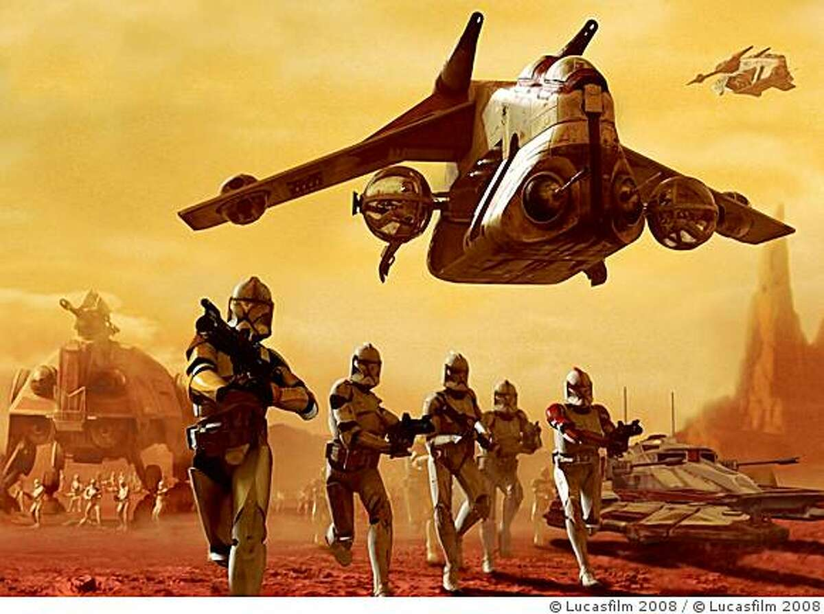 Scene from the TV series Star Wars: The Clone Wars. CR: � Lucasfilm 2008