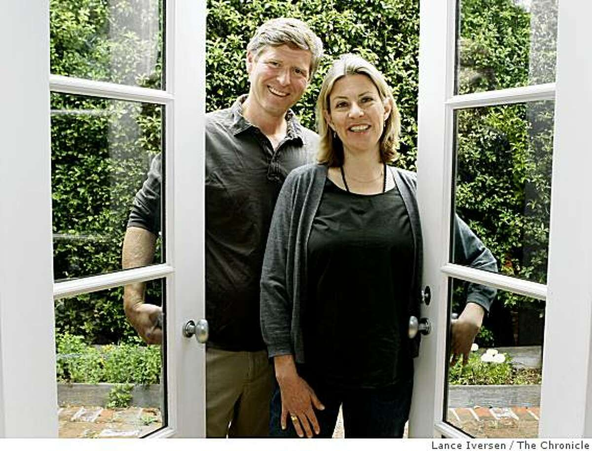 Julie Carlston, a former magazine editor and one of the founders of Remodelista.com with her husband Josh Groves, the sites's business manager, from Mill Valley June 10, 2009.
