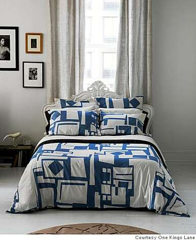 Dwell bedding: Merchandise currently on One Kings Lane online tony discount sales site Photo: Courtesy One Kings Lane, One Kings Lane