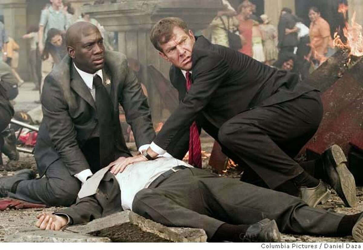 In this image released by Columbia Pictures, Richard T. Jones, left, and Dennis Quaid are shown in a scene from Columbia Pictures'