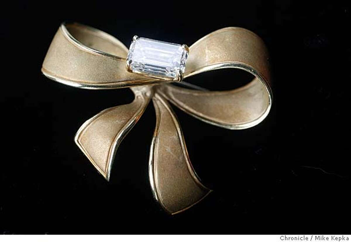 This is a pin done in gold with a re-purposed diamond designed by New York jeweler David Birnbaum Mike Kepka / The Chronicle MANDATORY CREDIT FOR PHOTOG AND SAN FRANCISCO CHRONICLE/NO SALES-MAGS OUT