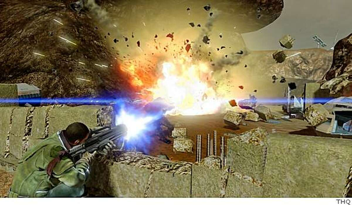 Watching things break is all part of the fun in Red Faction Guerrilla.