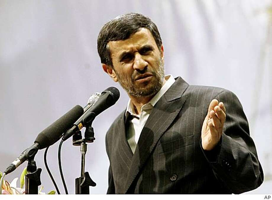 In this image issued by the semi-official Iranian Students News Agency, Iranian President Mahmoud Ahmadinejad, speaks during a ceremony of judiciary in Tehran, Iran on Saturday June, 27, 2009.(AP Photo/ISNA, Arash Khamushi) ** EDITORIAL USE ONLY -- EDITORS NOTE AS A RESULT OF AN OFFICIAL IRANIAN GOVERNMENT BAN ON FOREIGN MEDIA COVERING SOME EVENTS IN IRAN, THE AP WAS PREVENTED FROM INDEPENDENT ACESS TO THIS EVENT AND AS A RESULT IS DISTRIBUTING THIS IMAGE FROM AN OFFICIAL SOURCE ** Photo: AP