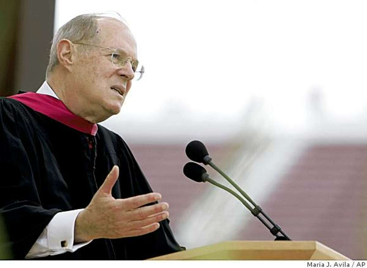 Associate Justice Anthony M. Kennedy delivers the commencement address during Stanford University's commencement ceremony, Sunday June 14, 2009 in Palo Alto, Calif. (AP Photo/San Jose Mercury News, Maria J. Avila) ** NO SALES. MAGS OUT **