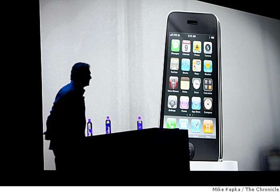 Phillip Schiller, Apple's senior VP of Worldwide marketing introduces the new iPhone 3Gs at the Apple Worldwide Developers Conference in Monscone Center on Monday June 8, 2009 in San Francisco, Calif. The New phone has faster abilities, voice control and editable  video. Photo: Mike Kepka, The Chronicle
