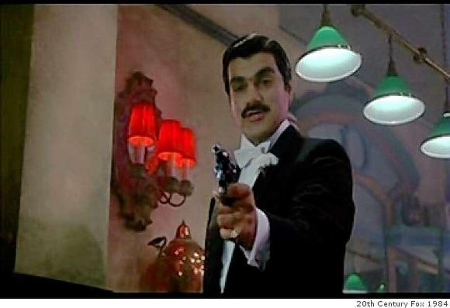 "Richard Dimitri as Roman Moronie in ""Johnny Dangerously"" Photo: 20th Century Fox 1984"