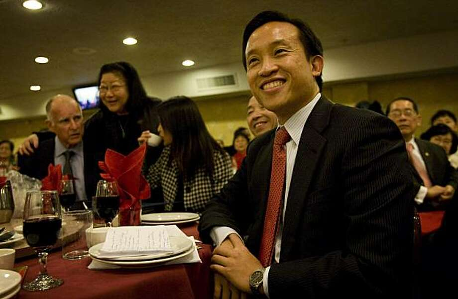 San Francisco Supervisor David Chiu, the first Chinese American President of the Board of Supervisors, attends a dinner honoring him and fellow supervisors Carmen Chu and Eric Mar at the New Asia Restaurant in San Francisco , Calif., on Friday, January 9, 2009. Photo: Laura Morton, Special To The Chronicle
