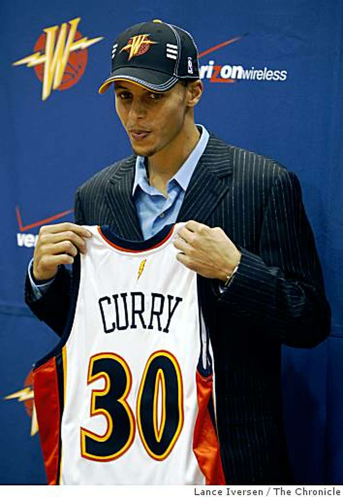 The Golden State Warriors introduced their first round draft pick, who was picked 7th in the NBA draft, Stephen Curry to the fans and media Friday June 26, 2009.