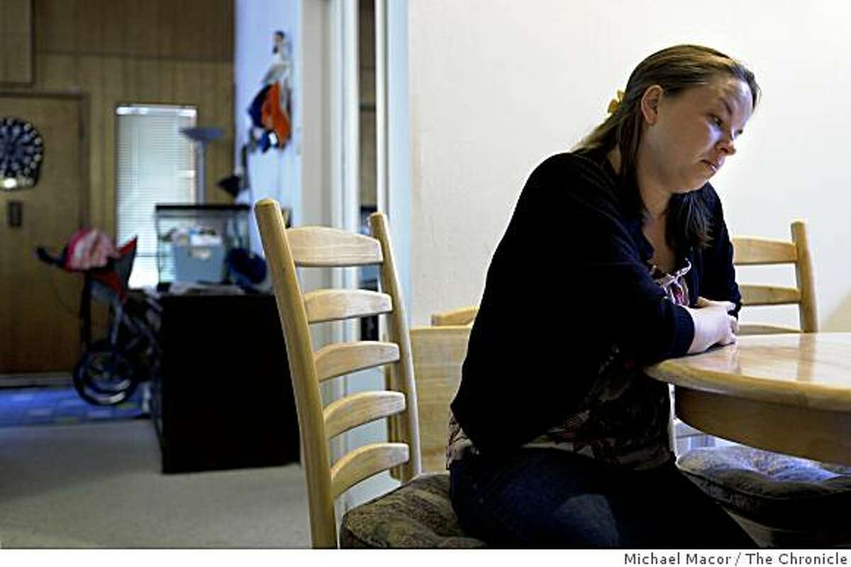 Haley Wesley, recalls the day May 18, 2007 when she after accidentally leaving her 10-month old daughter Maddison in her car seat in the back seat of her vehicle resulting in the child's death. Wesley at her home in Angwin, Calif. on Thursday June 11, 2009.