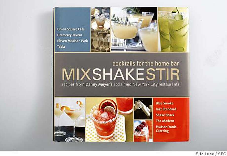 Mix Shake Stir cocktail book photographed on Thursday, June 11, 2009. Photo: Eric Luse, SFC