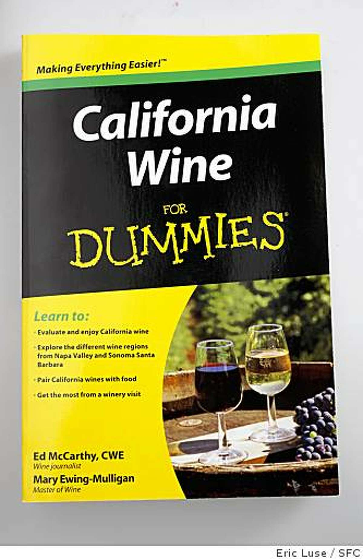 California Wine for Dummies wine book photographed on Thursday, June 11, 2009.