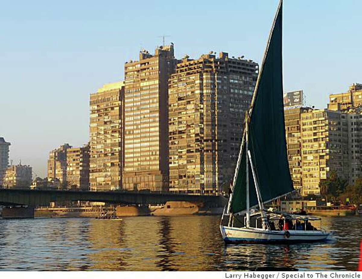TRAVEL EGYPT NILE Sunrise felucca on the Nile in Cairo
