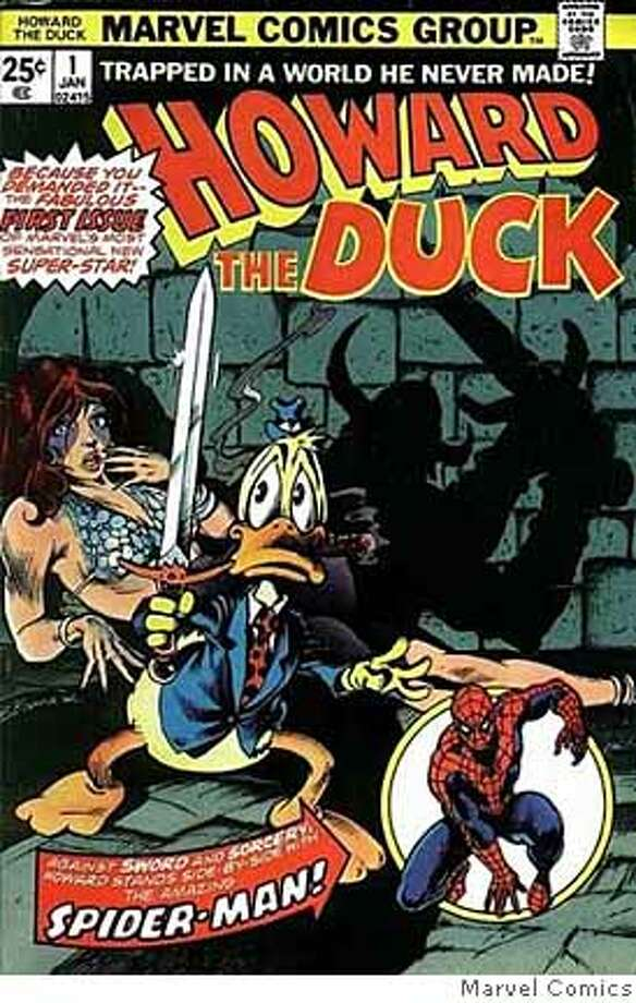"(NYT34) UNDATED -- Feb. 14, 2008 -- OBIT-GERBER -- Steve Gerber, who created Howard the Duck, the dour, dyspeptic, utterly disagreeable and therefore wildly popular comic-book hero of the 1970s, died on Sunday in Las Vegas. He was 60 and lived in Las Vegas. The cover of ""Howard the Duck"" No. 1.(Marvel Comics via The New York Times) - NO SALES -- FOR USE ONLY WITH OBIT-GERBER BY MARGALIT FOX -- ALL OTHER USE PROHIBITED. Ran on: 02-17-2008  Howard the Duck issue No. 1. The character's creator, Steve Gerber, had pulmonary fibrosis. Photo: MARVEL COMICS"