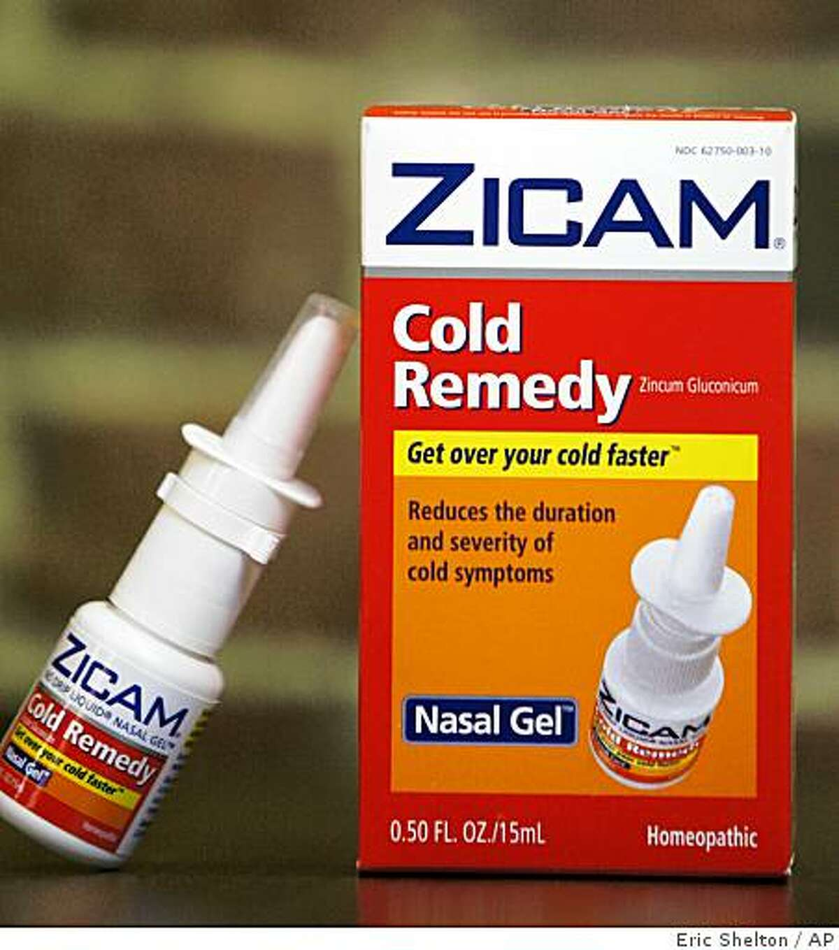 Zicam Cold Remedy nasal gel is shown in Boston Tuesday, June 16, 2009. The Food and Drug Administration on Tuesday said consumers should stop using Zicam Cold Remedy nasal gel and related products because they can permanently damage the sense of smell. (AP Photo/Eric Shelton)