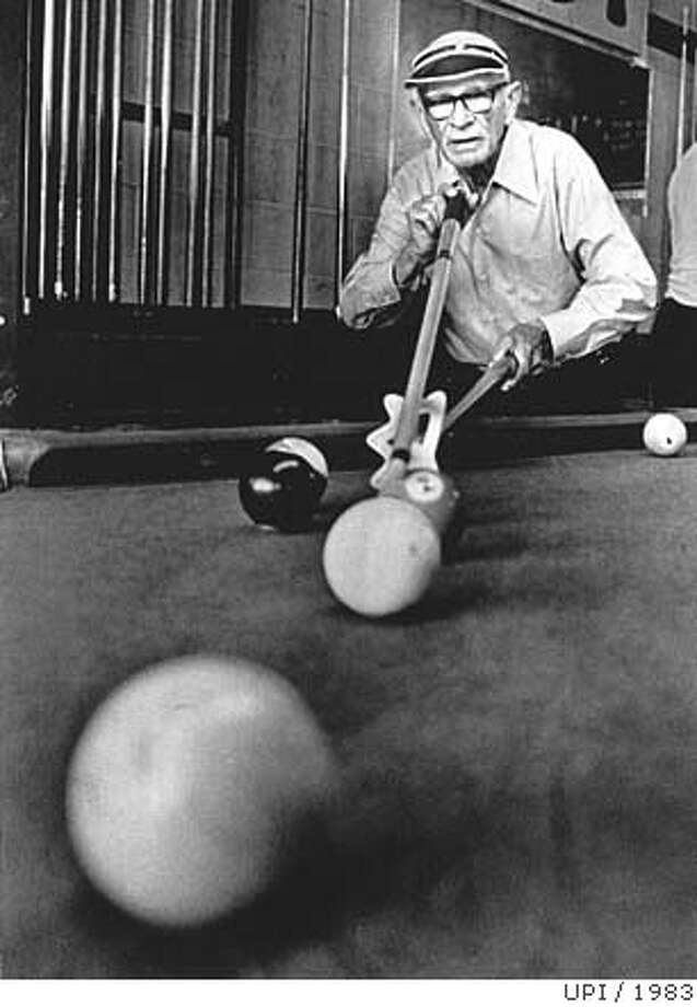 """Fast Eddie Pelkey, immortalized in the movie, """"The Hustler,"""" died in 1983. Photo: Upi 1983"""