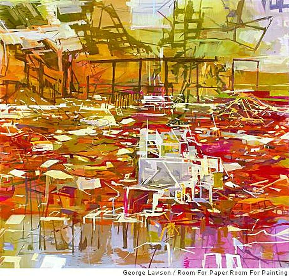 """""""Arena"""" (2008) oil on canavas by Marie Thibeault Photo: George Lawson, Room For Paper Room For Painting"""
