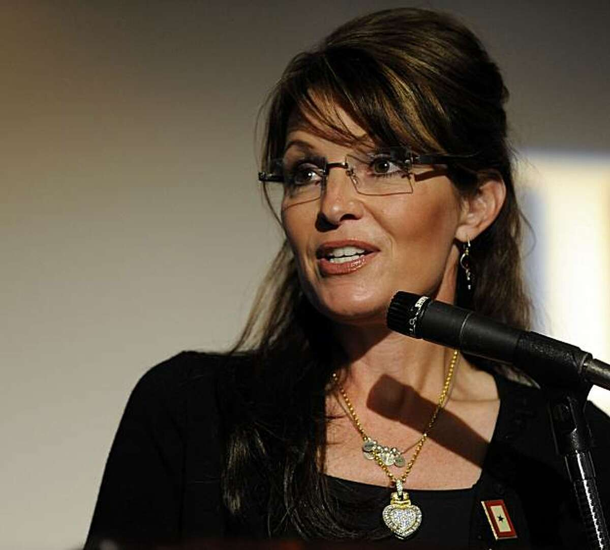 Alaska Governor Sarah Palin greets the crowd at the Independent Group Home Living gala in St. James, N.Y., Sunday June 7, 2009. Palin called for measures to make life better for people with developmental disabilities. (AP Photo/Newsday / Audrey C. Tiernan)