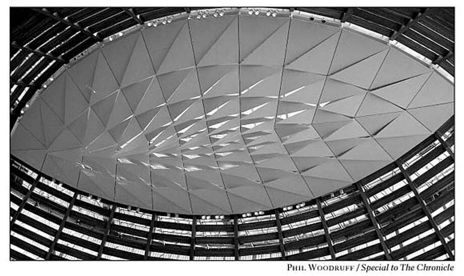 Image to the Editor: The oculus roof of the Cathedral of Christ the Light in Oakland. Under construction for three years, it is scheduled for completion in September. Photo by Phil Woodruff, special to the Chronicle
