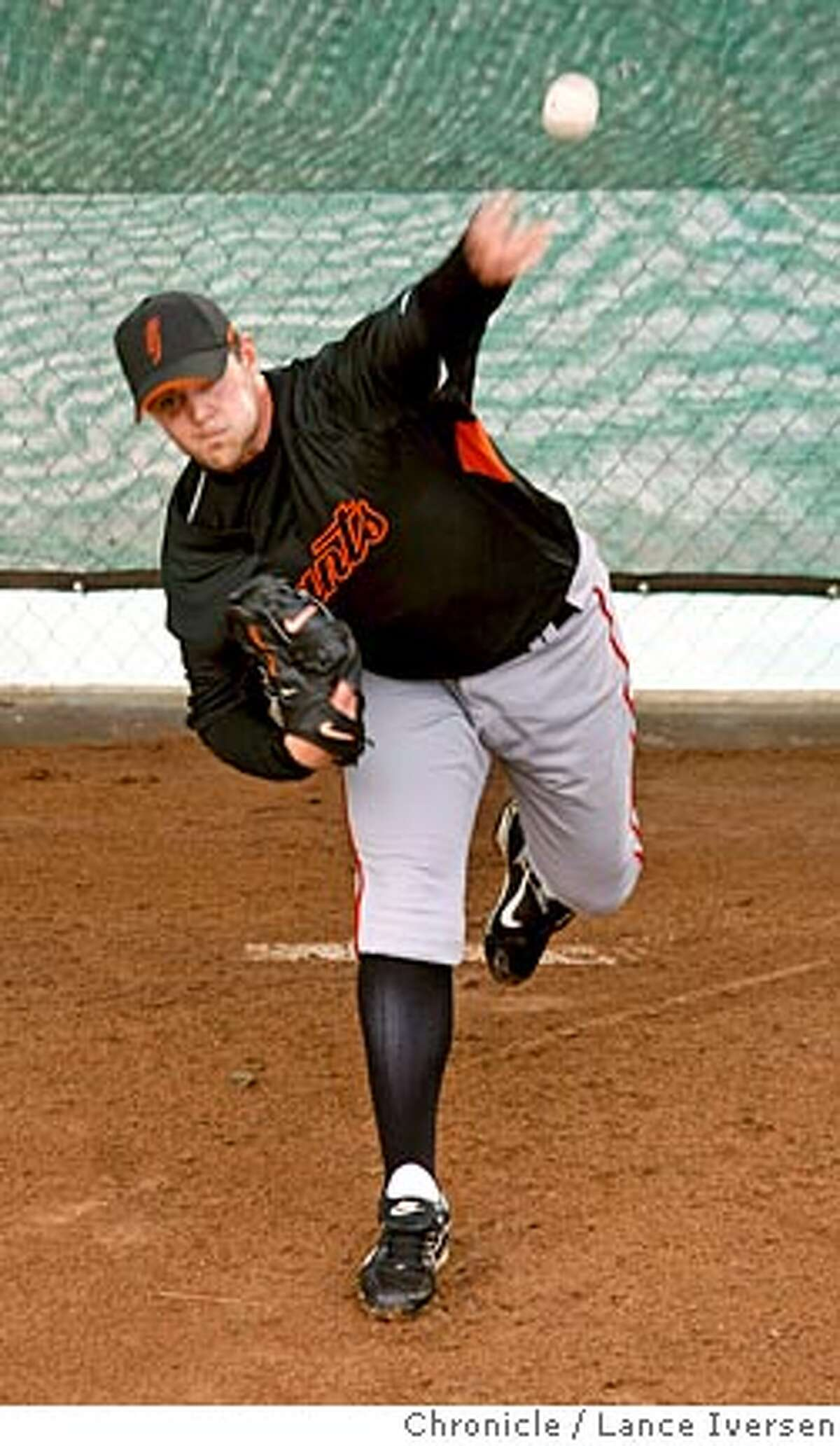 San Francisco Giants pitcher #51 Noah Lowry workout in the bullpen Friday at Scottsdale Stadium. By Lance Iversen/The San Francisco Chronicle Ran on: 02-17-2008 BARRY ZITO Age: 29 Career record: 113-76 ERA: 3.67 Ran on: 02-17-2008 BARRY ZITO Age: 29 Career record: 113-76 ERA: 3.67