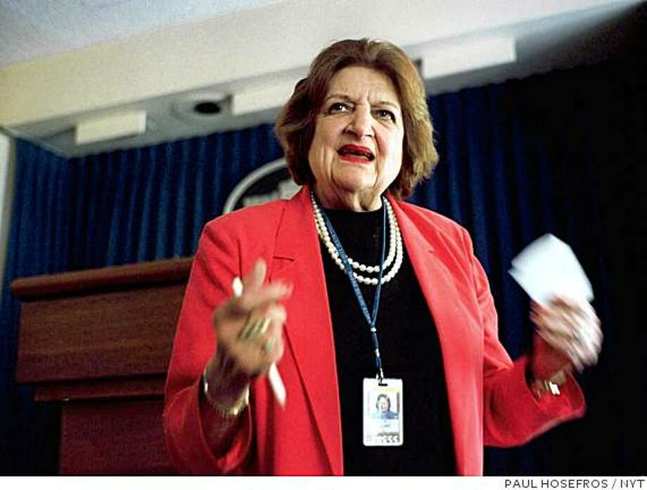 May 16, 2000 -- UPI-THOMAS -- Helen Thomas Photo: PAUL HOSEFROS, NYT