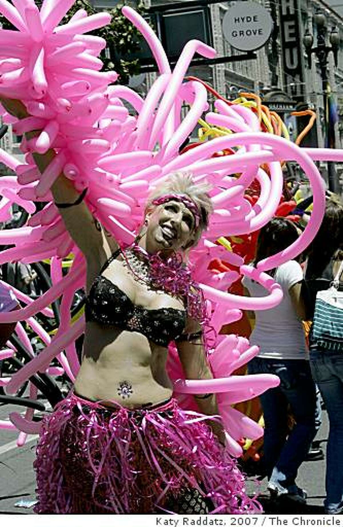 Kimberley Givson participates in the Gay Pride parade Sunday, June 24, 2007, in San Francisco. (AP Photo/The Chronicle, Katy Raddatz) **
