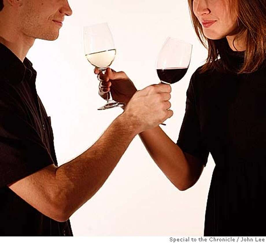 WINELOVERS_08_20_JOHNLEE.JPG  For story about couples trying to get the other to drink either red or white wines.  By JOHN LEE/SPECIAL TO THE CHRONICLE  Ran on: 02-03-2008 Photo: John Lee