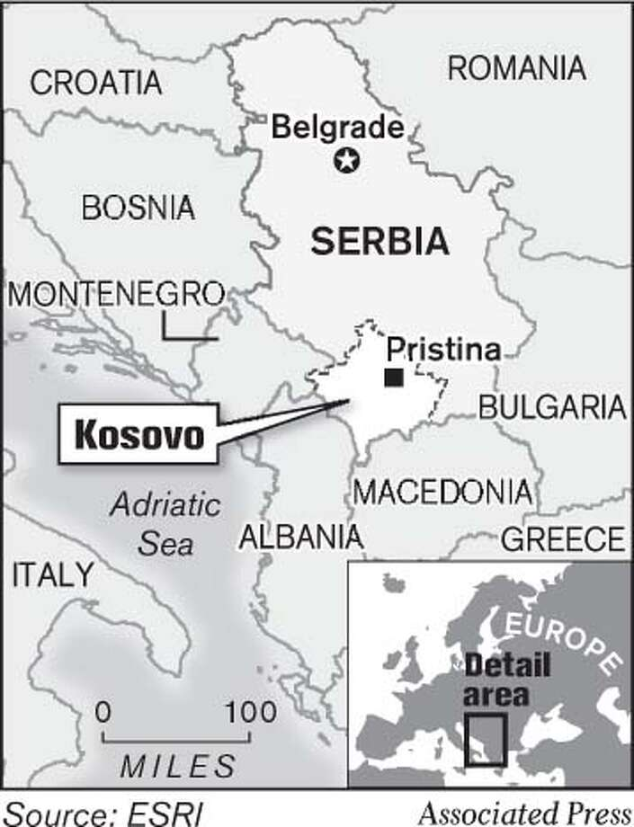 Kosovo. Associated Press Graphic