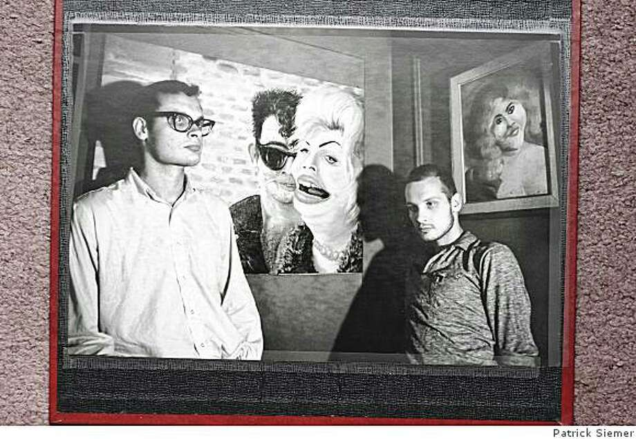 George and Mike  Kuchar and their artwork.kuchar vintage collection Photo: Patrick Siemer