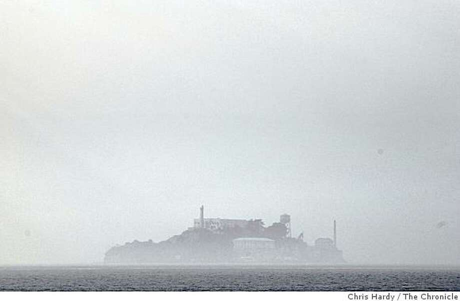 FOG COMING INTO THE BAY OVER ALCATRAZ Photo: Chris Hardy, The Chronicle
