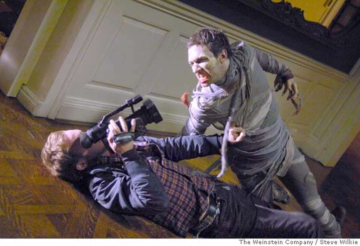Josh Close (Jason) battles a zombie in George A. Romero's Diary Of The Dead.