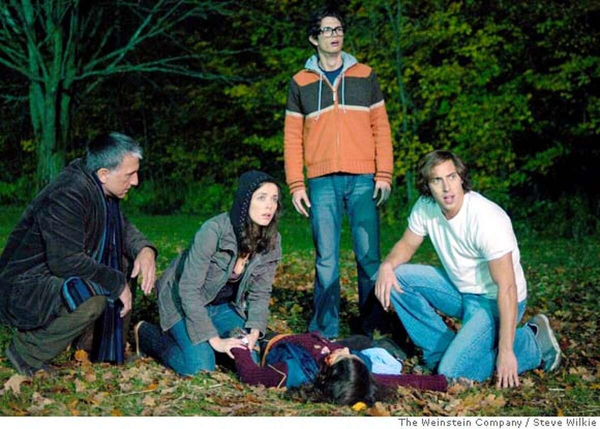 Scott Wentworth (Maxwell), Michelle Morgan (Debra), Joe Dinicol (Eliot) and Chris Violette (Gordo) star in George A. Romero's Diary Of The Dead.
